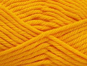 Fiber Content 100% Acrylic, Yellow, Brand Ice Yarns, Yarn Thickness 6 SuperBulky  Bulky, Roving, fnt2-59740