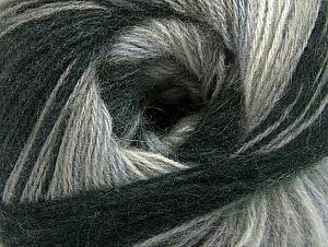 Fiber Content 60% Acrylic, 20% Wool, 20% Angora, Brand Ice Yarns, Grey Shades, Black, Yarn Thickness 2 Fine  Sport, Baby, fnt2-59746