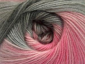 Fiber Content 60% Acrylic, 20% Wool, 20% Angora, Pink Shades, Brand Ice Yarns, Grey Shades, Yarn Thickness 2 Fine  Sport, Baby, fnt2-59752