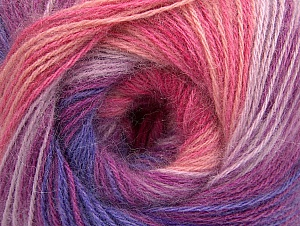 Fiber Content 60% Acrylic, 20% Wool, 20% Angora, Yellow, White, Purple, Pink Shades, Lilac Shades, Brand Ice Yarns, Yarn Thickness 2 Fine  Sport, Baby, fnt2-59753