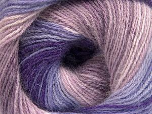 Fiber Content 60% Acrylic, 20% Wool, 20% Angora, Purple, Lilac Shades, Brand ICE, Yarn Thickness 2 Fine  Sport, Baby, fnt2-59754