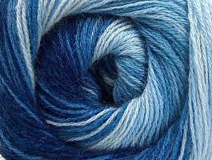 Fiber Content 60% Acrylic, 20% Wool, 20% Angora, Brand Ice Yarns, Blue Shades, Yarn Thickness 2 Fine  Sport, Baby, fnt2-59755