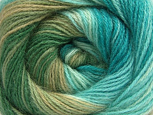 Fiber Content 60% Acrylic, 20% Wool, 20% Angora, Turquoise, Brand Ice Yarns, Green Shades, Yarn Thickness 2 Fine  Sport, Baby, fnt2-59757