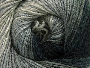 Fiber Content 70% Acrylic, 30% Merino Wool, Brand Ice Yarns, Grey Shades, Black, Yarn Thickness 2 Fine  Sport, Baby, fnt2-59768