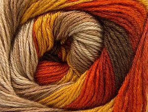 Fiber Content 70% Acrylic, 30% Merino Wool, Orange, Brand Ice Yarns, Gold, Camel, Brown Shades, Yarn Thickness 2 Fine  Sport, Baby, fnt2-59772