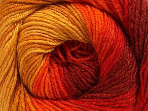Fiber Content 70% Acrylic, 30% Merino Wool, Yellow, Red, Orange, Brand Ice Yarns, Gold, Yarn Thickness 2 Fine  Sport, Baby, fnt2-59773