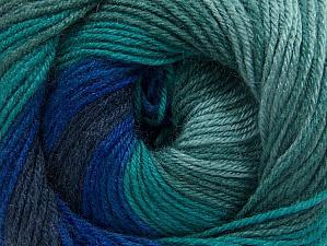 Fiber Content 70% Acrylic, 30% Merino Wool, Navy, Brand Ice Yarns, Green Shades, Blue Shades, Yarn Thickness 2 Fine  Sport, Baby, fnt2-59776