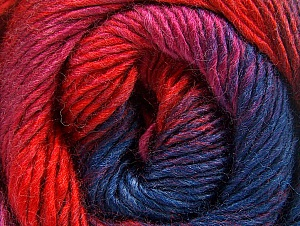 Fiber Content 50% Wool, 50% Acrylic, Red, Navy, Lilac, Brand Ice Yarns, Fuchsia, Yarn Thickness 2 Fine  Sport, Baby, fnt2-59786