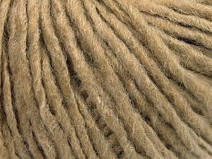 Fiber Content 50% Wool, 50% Acrylic, Light Camel, Brand Ice Yarns, Yarn Thickness 4 Medium  Worsted, Afghan, Aran, fnt2-59805
