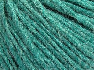 Fiber Content 50% Wool, 50% Acrylic, Light Emerald Green, Brand Ice Yarns, Yarn Thickness 4 Medium  Worsted, Afghan, Aran, fnt2-59813