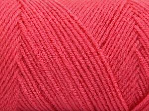 Fiber Content 50% Acrylic, 50% Wool, Salmon, Brand Ice Yarns, Yarn Thickness 3 Light  DK, Light, Worsted, fnt2-59956