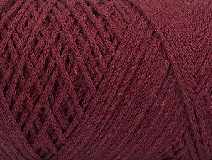 Please be advised that yarn iade made of recycled cotton, and dye lot differences occur. Fiber Content 100% Cotton, Brand Ice Yarns, Burgundy, Yarn Thickness 4 Medium  Worsted, Afghan, Aran, fnt2-60151