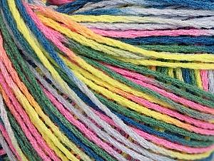 Fiber Content 100% Acrylic, Pink, Neon Yellow, Lilac, Khaki, Brand Ice Yarns, Blue, Yarn Thickness 2 Fine  Sport, Baby, fnt2-60469