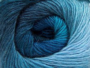 Fiber Content 60% Premium Acrylic, 20% Alpaca, 20% Wool, Turquoise Shades, Brand Ice Yarns, Blue, Yarn Thickness 2 Fine  Sport, Baby, fnt2-60996