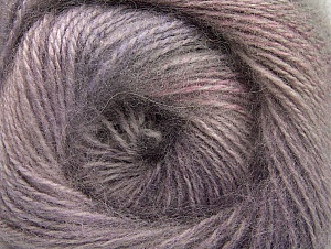 Fiber Content 75% Premium Acrylic, 15% Wool, 10% Mohair, Pink, Lilac Shades, Brand ICE, Grey, Yarn Thickness 2 Fine  Sport, Baby, fnt2-61000