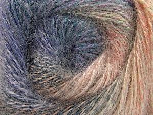 Fiber Content 75% Premium Acrylic, 15% Wool, 10% Mohair, Salmon, Lilac, Brand Ice Yarns, Cream, Blue, Yarn Thickness 2 Fine  Sport, Baby, fnt2-61003