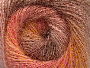 Fiber Content 75% Premium Acrylic, 15% Wool, 10% Mohair, Salmon, Pink, Brand ICE, Gold, Camel, Yarn Thickness 2 Fine  Sport, Baby, fnt2-61008
