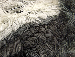 Fiber Content 95% Acrylic, 5% Polyester, White, Brand Ice Yarns, Grey Shades, Yarn Thickness 6 SuperBulky  Bulky, Roving, fnt2-61118