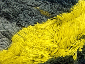 Fiber Content 95% Acrylic, 5% Polyester, Neon Yellow, Brand Ice Yarns, Grey Shades, Yarn Thickness 6 SuperBulky  Bulky, Roving, fnt2-61123