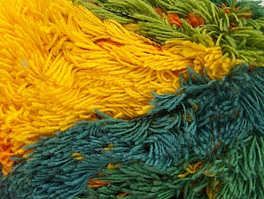 Fiber Content 95% Acrylic, 5% Polyester, Yellow, Pink, Lilac, Brand Ice Yarns, Green Shades, Blue, Yarn Thickness 6 SuperBulky  Bulky, Roving, fnt2-61128