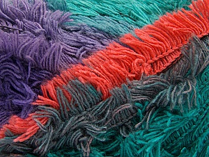 Fiber Content 95% Acrylic, 5% Polyester, Salmon, Purple, Maroon, Lilac, Brand Ice Yarns, Green Shades, Yarn Thickness 6 SuperBulky  Bulky, Roving, fnt2-61130