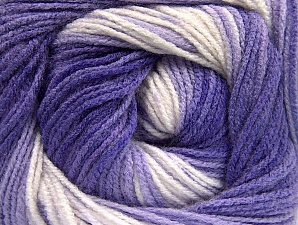 Fiber Content 100% Baby Acrylic, Lilac Shades, Brand Ice Yarns, Cream, Yarn Thickness 2 Fine  Sport, Baby, fnt2-61138