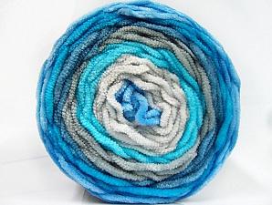 Fiber Content 100% Acrylic, Turquoise Shades, Brand Ice Yarns, Grey Shades, Yarn Thickness 4 Medium  Worsted, Afghan, Aran, fnt2-61162