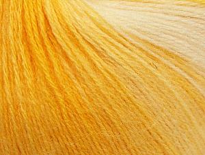 Fiber Content 60% Acrylic, 20% Angora, 20% Wool, Yellow Shades, White, Brand Ice Yarns, Yarn Thickness 2 Fine  Sport, Baby, fnt2-61207