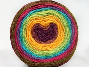 Fiber Content 70% Premium Acrylic, 30% Wool, Yellow, Turquoise, Maroon, Lilac, Brand Ice Yarns, Green Shades, Yarn Thickness 3 Light  DK, Light, Worsted, fnt2-61237