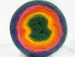 Fiber Content 60% Acrylic, 20% Wool, 20% Angora, Rainbow, Brand Ice Yarns, Yarn Thickness 2 Fine  Sport, Baby, fnt2-61244
