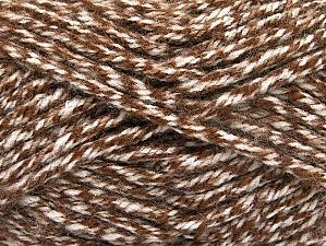 Fiber Content 100% Acrylic, Brand Ice Yarns, Cream, Brown, Yarn Thickness 6 SuperBulky  Bulky, Roving, fnt2-61999