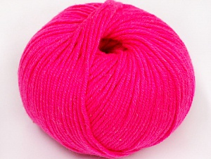 Fiber Content 50% Acrylic, 50% Cotton, Neon Pink, Brand Ice Yarns, Yarn Thickness 2 Fine  Sport, Baby, fnt2-62408