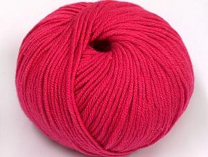Fiber Content 50% Acrylic, 50% Cotton, Brand Ice Yarns, Fuchsia, Yarn Thickness 2 Fine  Sport, Baby, fnt2-62410