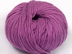 Fiber Content 50% Acrylic, 50% Cotton, Lavender, Brand Ice Yarns, Yarn Thickness 2 Fine  Sport, Baby, fnt2-62417