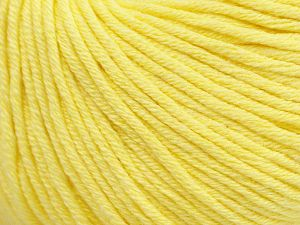Fiber Content 50% Cotton, 50% Acrylic, Light Yellow, Brand Ice Yarns, Yarn Thickness 3 Light  DK, Light, Worsted, fnt2-62734