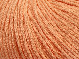 Fiber Content 50% Cotton, 50% Acrylic, Light Salmon, Brand Ice Yarns, Yarn Thickness 3 Light  DK, Light, Worsted, fnt2-62736