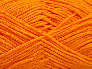 Fiber Content 50% Cotton, 50% Acrylic, Orange, Brand Ice Yarns, Yarn Thickness 3 Light  DK, Light, Worsted, fnt2-62737