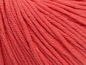Fiber Content 50% Cotton, 50% Acrylic, Salmon, Brand Ice Yarns, Yarn Thickness 3 Light  DK, Light, Worsted, fnt2-62739