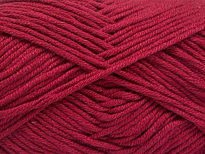 Fiber Content 50% Cotton, 50% Acrylic, Brand Ice Yarns, Burgundy, Yarn Thickness 3 Light  DK, Light, Worsted, fnt2-62742