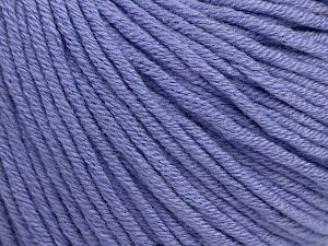 Fiber Content 50% Cotton, 50% Acrylic, Lilac, Brand Ice Yarns, Yarn Thickness 3 Light  DK, Light, Worsted, fnt2-62744