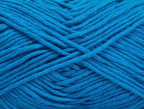 Fiber Content 50% Cotton, 50% Acrylic, Turquoise, Brand Ice Yarns, Yarn Thickness 3 Light  DK, Light, Worsted, fnt2-62748