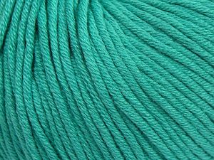 Fiber Content 50% Cotton, 50% Acrylic, Brand Ice Yarns, Emerald Green, Yarn Thickness 3 Light  DK, Light, Worsted, fnt2-62749