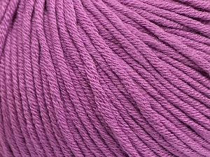 Fiber Content 50% Cotton, 50% Acrylic, Lavender, Brand Ice Yarns, Yarn Thickness 3 Light  DK, Light, Worsted, fnt2-62751