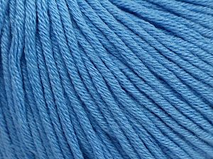 Fiber Content 50% Cotton, 50% Acrylic, Brand Ice Yarns, Baby Blue, Yarn Thickness 3 Light  DK, Light, Worsted, fnt2-62755