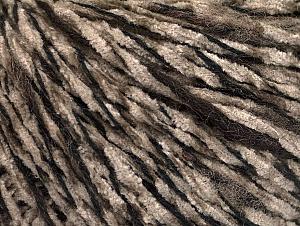 Fiber Content 85% Acrylic, 15% Wool, Brand Ice Yarns, Dark Brown, Camel, Black, Yarn Thickness 4 Medium  Worsted, Afghan, Aran, fnt2-62966