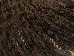 Fiber Content 85% Acrylic, 15% Wool, Brand Ice Yarns, Dark Brown, Black, Yarn Thickness 4 Medium  Worsted, Afghan, Aran, fnt2-62967