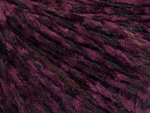 Fiber Content 85% Acrylic, 15% Wool, Red, Purple, Brand Ice Yarns, Black, Yarn Thickness 4 Medium  Worsted, Afghan, Aran, fnt2-62970