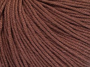 Fiber Content 60% Cotton, 40% Acrylic, Brand Ice Yarns, Brown, Yarn Thickness 2 Fine  Sport, Baby, fnt2-62999