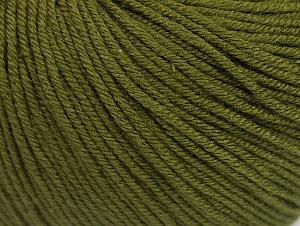 Fiber Content 60% Cotton, 40% Acrylic, Brand Ice Yarns, Dark Khaki, Yarn Thickness 2 Fine  Sport, Baby, fnt2-63001