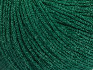 Fiber Content 60% Cotton, 40% Acrylic, Brand Ice Yarns, Dark Green, Yarn Thickness 2 Fine  Sport, Baby, fnt2-63002
